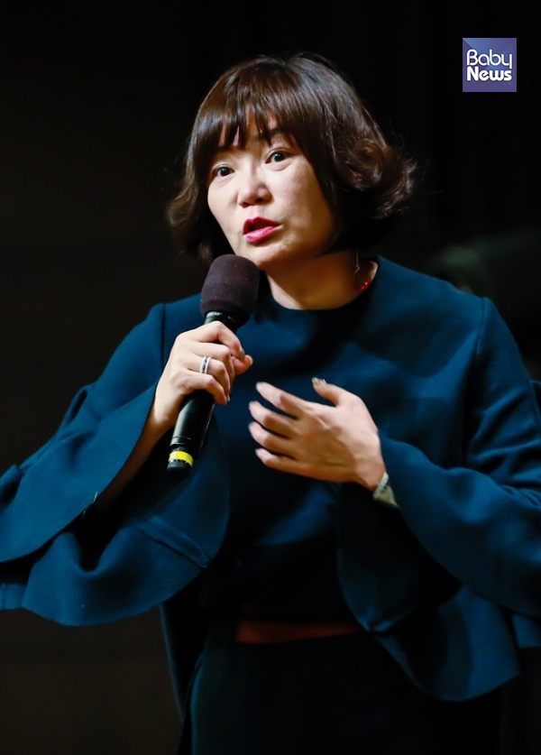 지난 24일 저녁 7시 30분부터 서울 종로구 광화문 교보빌딩 23층 컨벤션홀에서 진행된 '엄마의 자존감 공부' 북콘서트 장면. 최대성 기자 ⓒ베이비뉴스