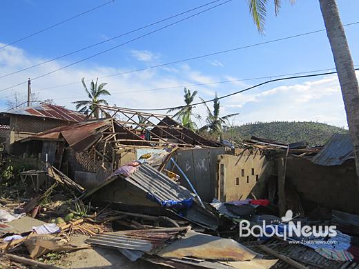 태풍 하이옌의 피해를 입은 필리핀 일로일로(Iloilo) 지역의 모습. ⓒ세이브더칠드런
