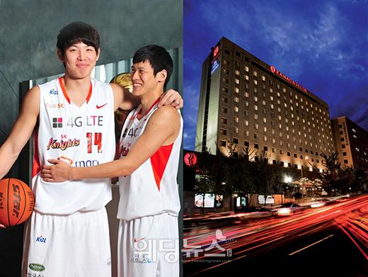 지난 26일 sk나이츠 최부경 선수의 결혼식이 서울 강남구 삼성동 라마다서울호텔에서 치러졌다. ⓒ라마다서울호텔