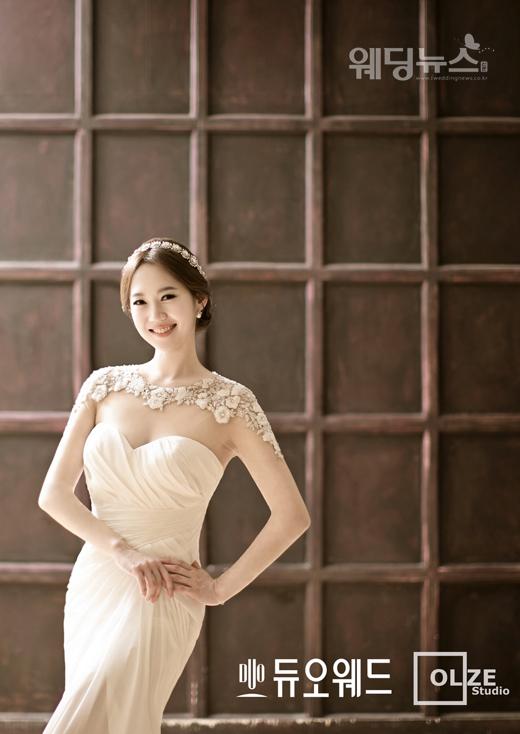 KBS 아나운서 엄지인의 웨딩 사진이 공개됐다. ⓒ듀오웨드