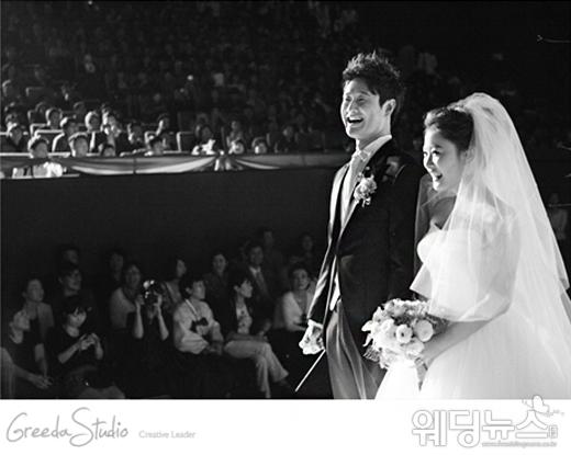 김원효와 심진화는 영화관에서 결혼식을 치렀다. ⓒ그리다