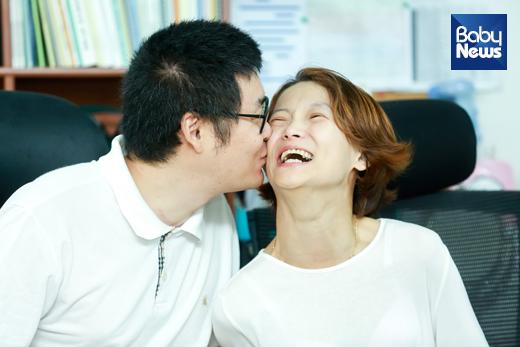 """최재선 씨는 아내 김민정 씨에 대해 """"좋은 사람이자 중요한 사람""""이라고 표현했다. 최대성 기자 ⓒ베이비뉴스"""